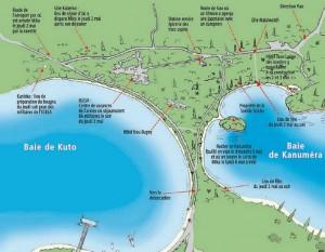 Le plan de l'ensemble des lieux concernés